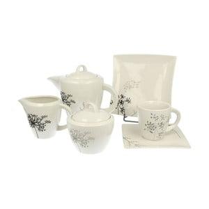Zestaw kawowy Grey Flowers