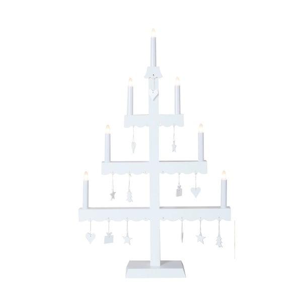 Świecznik LED Dingla, biały