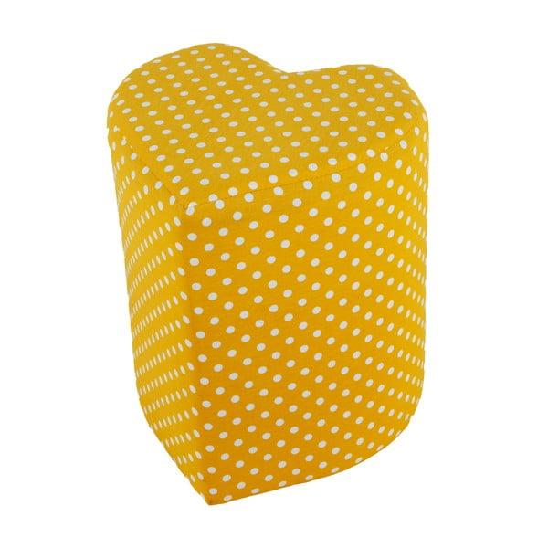 Puf w kształcie serca Seya, żółty