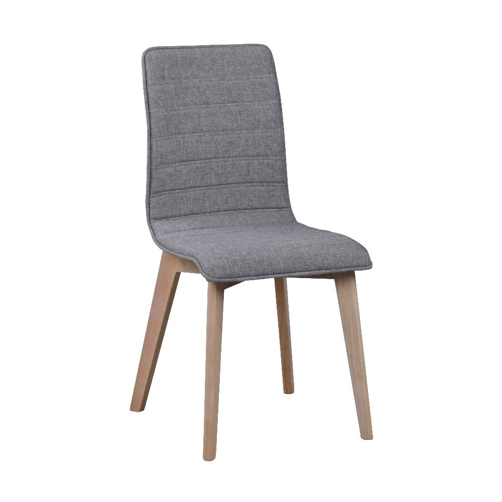Szare krzesło do jadalni z jasnoszarymi nogami Rowico Grace