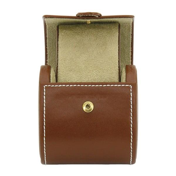Brązowe pudełko na zegarek Friedrich Lederwaren Cordoba