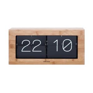 Drewniany zegar klapkowy Present Time Flip