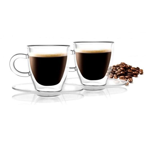 2 szklanki z podwójną ścianką Vialli Design Amo Espresso, 50 ml