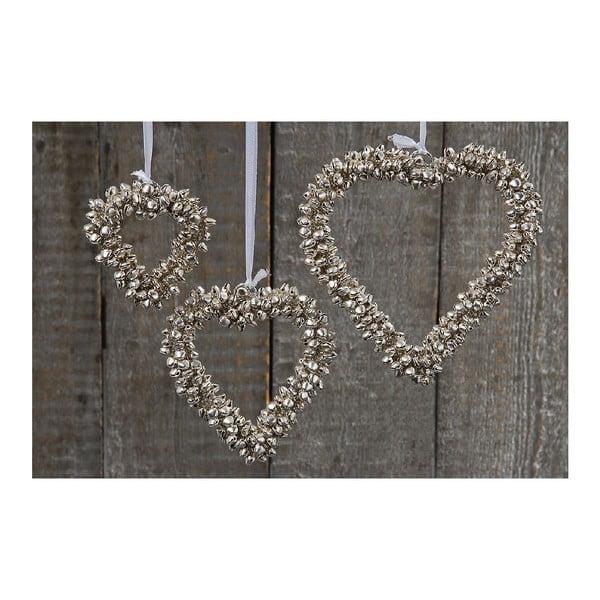 Zestaw 3 dekoracji wiszących Boltze Hearts