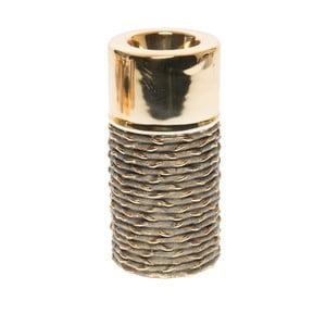 Świecznik ceramiczny Gold M