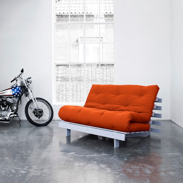 Sofa rozkładana Karup Roots Cool Gray/Orange