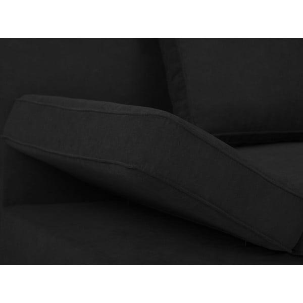 Czarna 2-osobowa sofa rozkładana Windsor & Co Sofas Iota