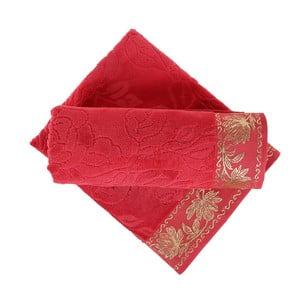 Zestaw 2 czerwonych ręczników Akdeniz, 70x140 cm