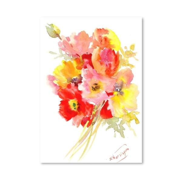 Plakat Red Flowers (projekt Suren Nersisyan)