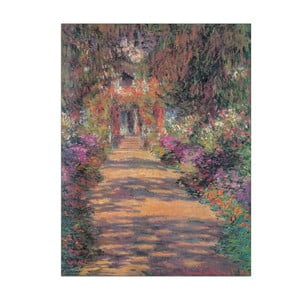 Obraz Claude Monet - Une Allée du jardin, 60x80 cm