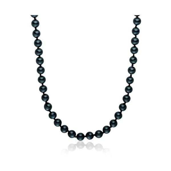 Niebieski perłowy naszyjnik Pearls Of London, 50 cm