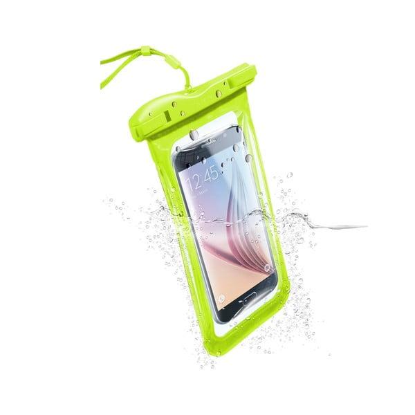 Etui na telefon, wodoszczelne, uniwersalne Cellularline VOYAGER, limetkowe