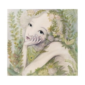 Autorski plakat Lény Brauner Kwiatowa nimfa, 60x67 cm