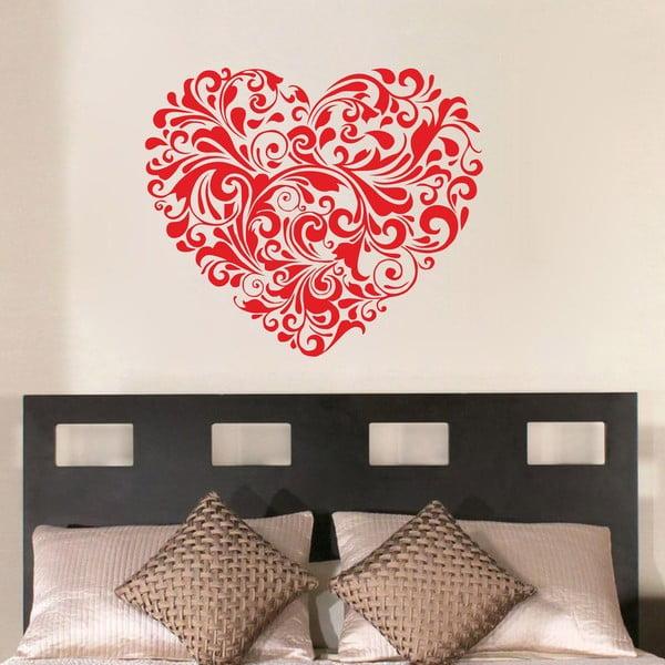 Dekoracyjna naklejka ścienna Red Heart