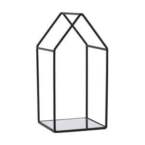 Czarny świecznik KJ Collection Melo, 25,5 cm