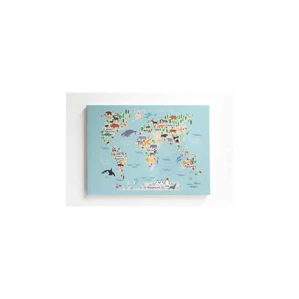 Obraz na płótnie Little Nice Things Mapamundi, 50x70 cm