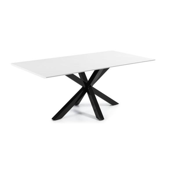 Stół do jadalni Arya, 200x100cm, czarne lakierowane nogi