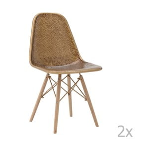 Zestaw 2 krzeseł z drewna brzozowego InArt Benedita
