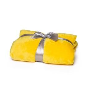 Żółty koc Tarami, 200x150 cm