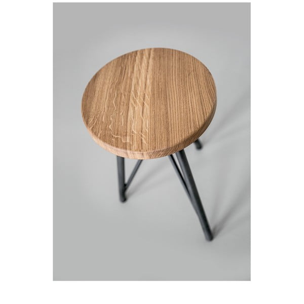 Taboret NUTSANDWOODS Oak, średnica 30 cm