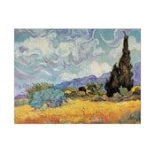 Obraz Vincent Van Gogh - Pole pszenicy z cyprysami, 80x60 cm