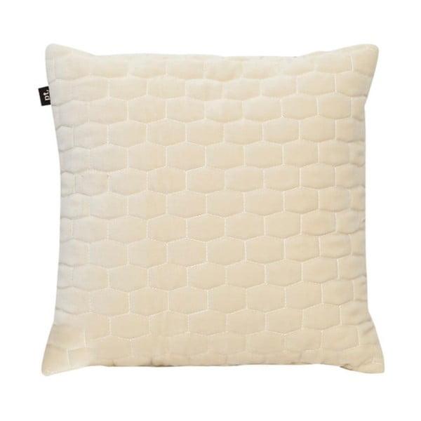 Kremowobiała poduszka z aksamitnego materiału PT LIVING, 35x35 cm