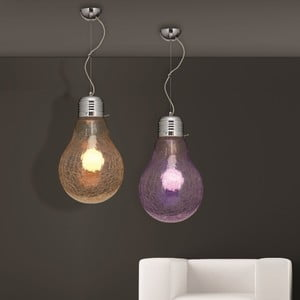 Lampa sufitowa Laba Crakele, fioletowa