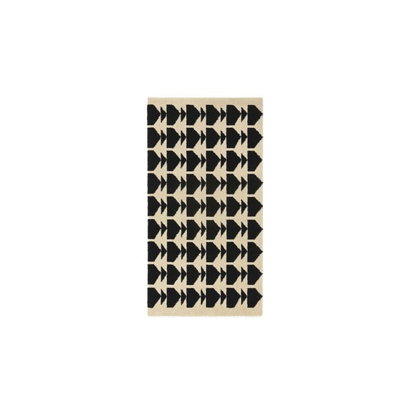 Dywan wełniany Oslo no.1, 140x200 cm, czarny