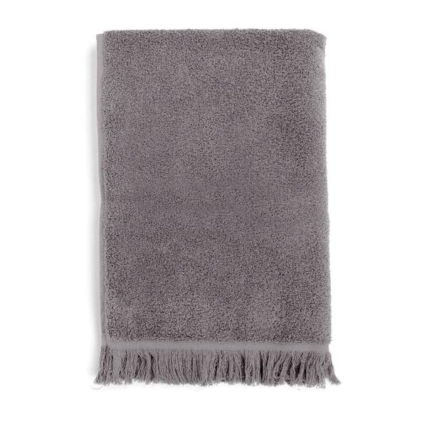 Komplet 2 szarych ręczników bawełnianych Casa Di Bassi Soft, 50x90 cm