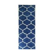 Ciemnoniebieski dywan tuftowany ręcznie Bakero Florida, 78x244 cm