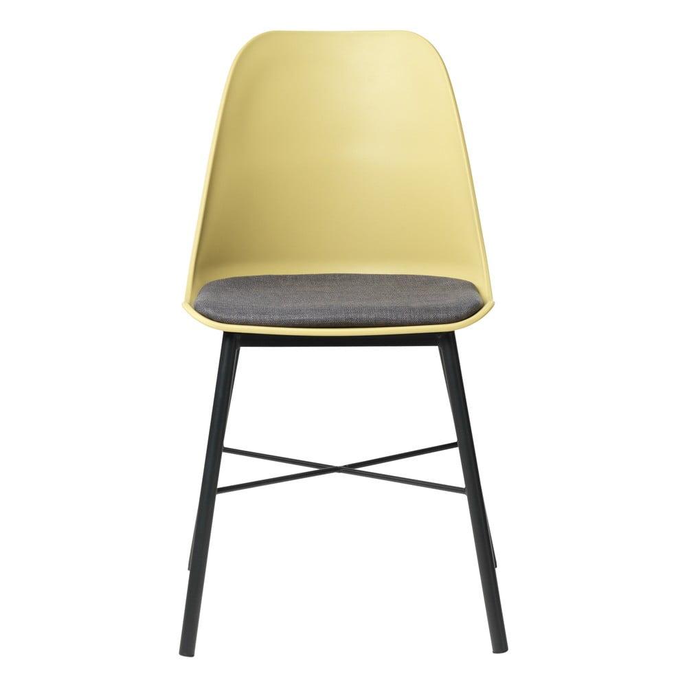 Zestaw 2 żółto-szarych krzeseł Unique Furniture Whistler