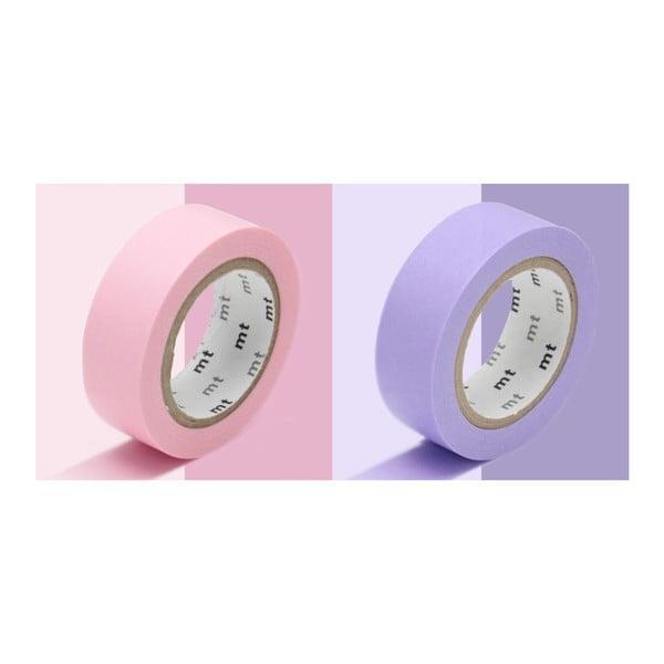 Zestaw 2 taśm dekoracyjnych washi Uni Rose Lavender