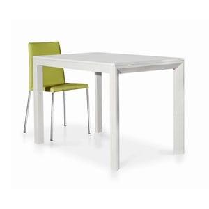 Biały rozkładany stół z drewna jesionowego Castagnetti Kao, 110cm