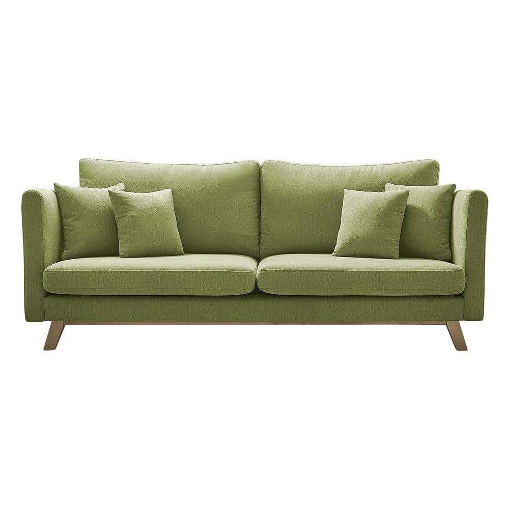 Zielona rozkładana sofa Bobochic Paris Triplo
