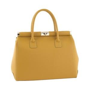 Skórzana torebka Italian Elegance, żółta