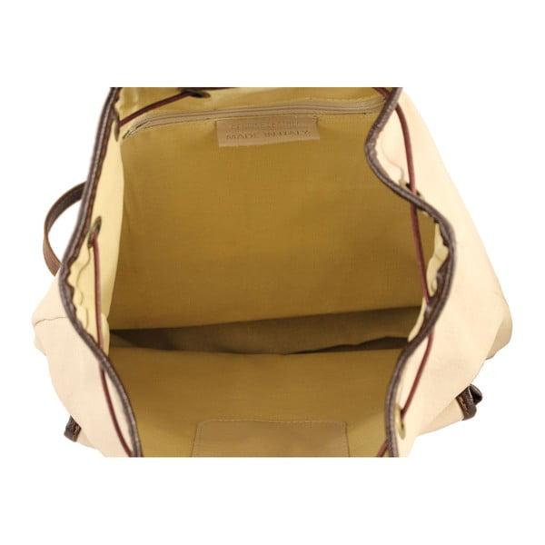 Beżowy plecak skórzany Becky