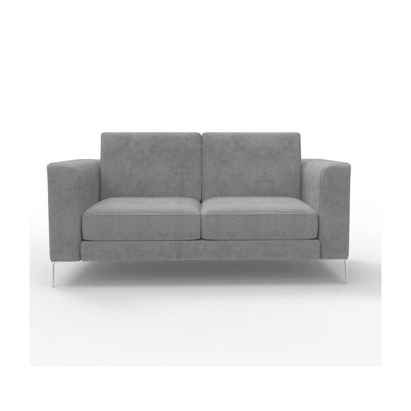Sofa dwuosobowa Miura Munich, pokrycie szare, zamszowe