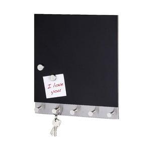 Magnetyczny wieszak na płaszcze z tablicą do pisania Black Big
