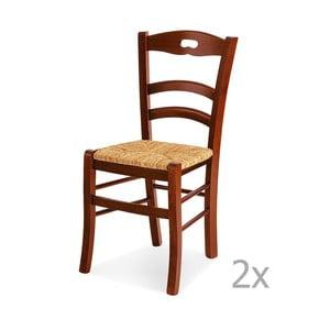 Zestaw 2 krzeseł drewnianych Castagnetti Mare