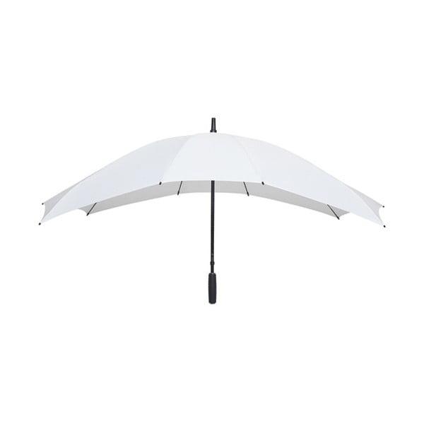 Biały prostokątny parasol dla 2 osób Ambiance Falconetti