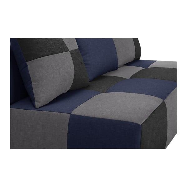 Niebiesko-szara sofa rozkładana Dandy