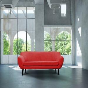 Czerwona sofa trzyosobowa Mazzini Sofas Toscane