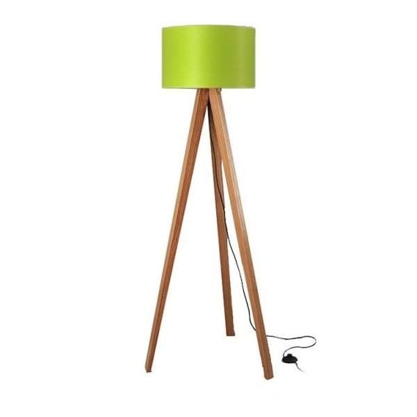 Lampa stojąca Tripod Lime/Walnut