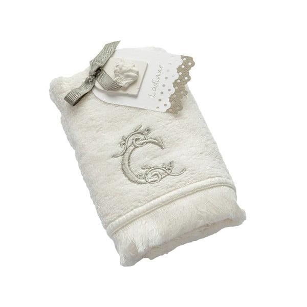 Ręcznik z inicjałem C, 30x50 cm