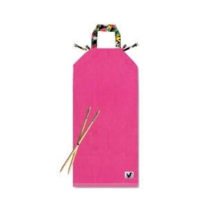 Różowy leżak plażowy Origama Dark Tropic