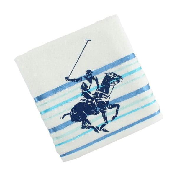 Ręcznik bawełniany BHPC White 50x100 cm, niebieski