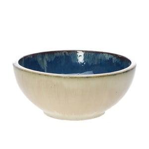 Miska ceramiczna z niebieskiem wnętrzem Dino Bianchi, ⌀32cm