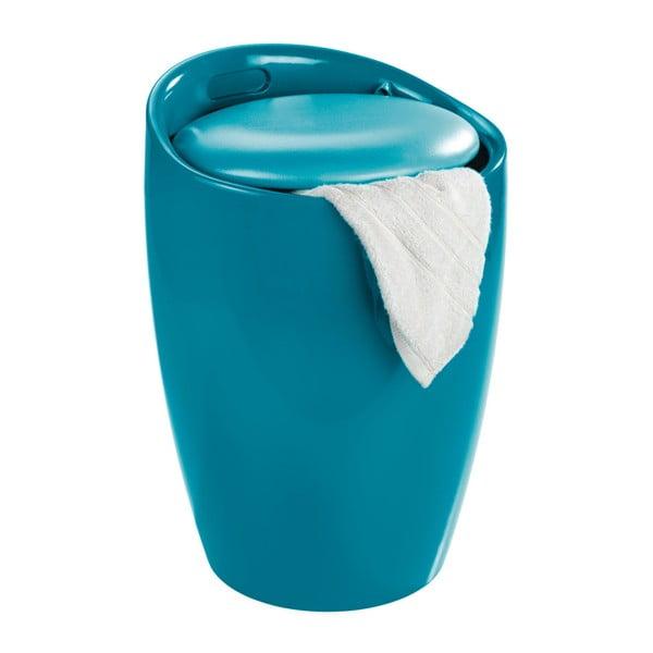 Niebieski kosz na pranie i taboret w jednym Wenko Candy Look, 20 l