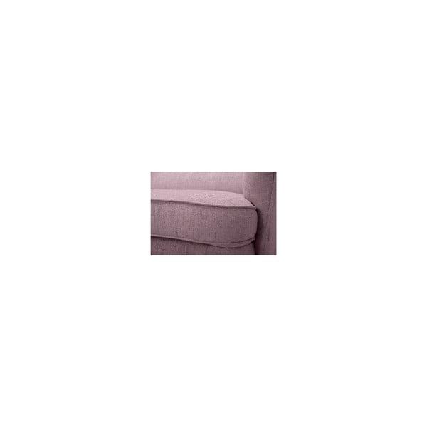 Różowa sofa trzyosobowa Vivonita Fifties