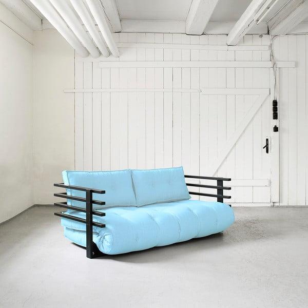 Sofa rozkładana dwuosobowa Karup Funk Black/Celeste